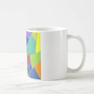 Colors pieces squares coffee mug