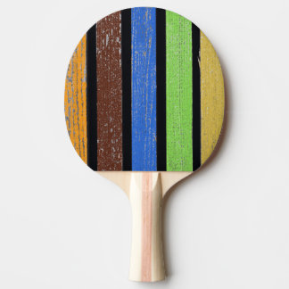 Colors Ping Pong Paddle, Red Rubber Back Ping Pong Paddle