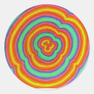 colors round sticker