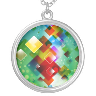 COLORS SILVER PLATED NECKLACE
