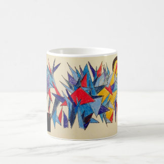 Colors triangles icicles points abstract art coffee mug