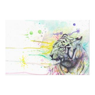 ColorSplash Tiger wrapped canvas Canvas Prints