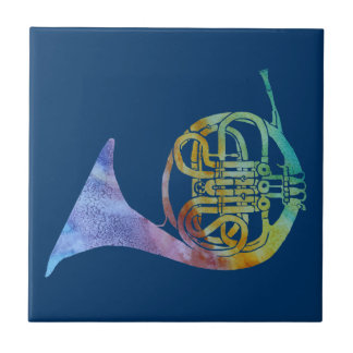 Colorwashed French Horn Tile