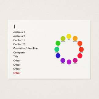 colorwheel, 1, Address 1, Address 2, Contact 1,... Business Card