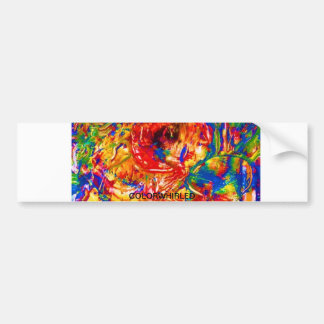 colorwhirled bumper sticker