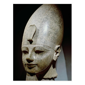 Colossal head of Amenhotep III, from al-Qurnah Postcard