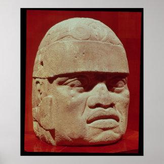 Colossal head, Olmec Poster