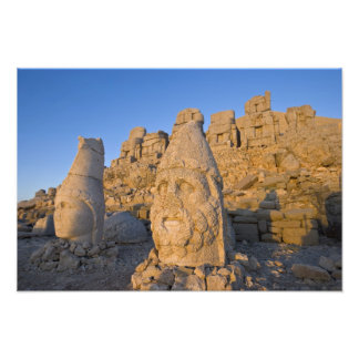 Colossal head statues of Gods guarding the Photo Art