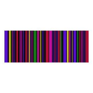 Colossal  Multi color  Barcode Art #2 Poster