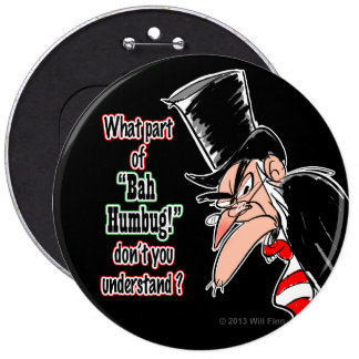 Colossal Scrooge Pinback Button (black)