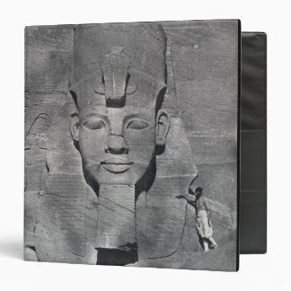 Colossal statue of Ramesses II at Abu Simbel, 1850 3 Ring Binder