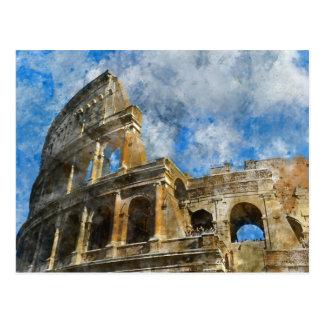 Colosseum à Rome antique Italie Carte Postale