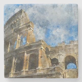 Colosseum à Rome antique Italie Dessous-de-verre En Pierre