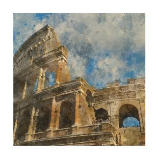 Colosseum à Rome antique Italie Impression Sur Bois