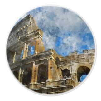 Colosseum antique à Rome Italie Bouton De Porte En Céramique