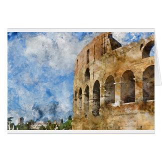 Colosseum antique à Rome Italie Carte