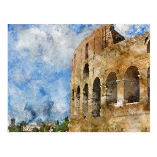 Colosseum antique à Rome Italie Carte Postale