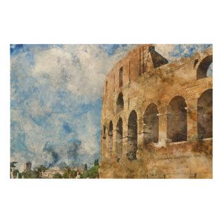 Colosseum antique à Rome Italie Impression Sur Bois