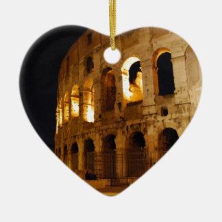 Colosseum Ceramic Heart Ornament