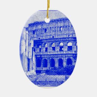 Colosseum Ceramic Oval Ornament