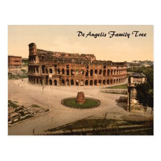 Colosseum et méta Sudans, Rome, Italie Carte Postale