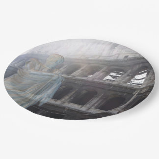 Colosseum Ghost 9 Inch Paper Plate
