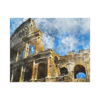 Colosseum in Ancient Rome Italy Canvas Print