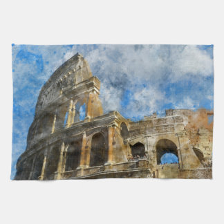 Colosseum in Ancient Rome Italy Hand Towels
