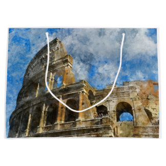 Colosseum in Ancient Rome Italy Large Gift Bag