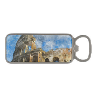 Colosseum in Ancient Rome Italy Magnetic Bottle Opener