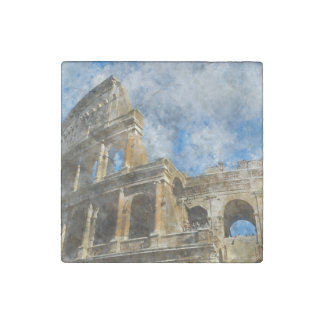 Colosseum in Ancient Rome Italy Stone Magnets