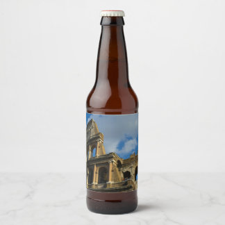 Colosseum in Rome, Italy Beer Bottle Label