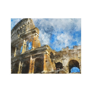 Colosseum in Rome, Italy_ Canvas Print