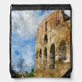 Colosseum in Rome, Italy Drawstring Bag