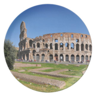 Colosseum in Rome, Italy Plate