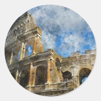 Colosseum in Rome, Italy_ Round Sticker