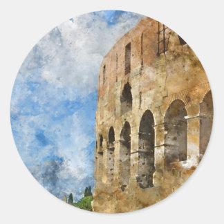Colosseum in Rome, Italy Round Sticker