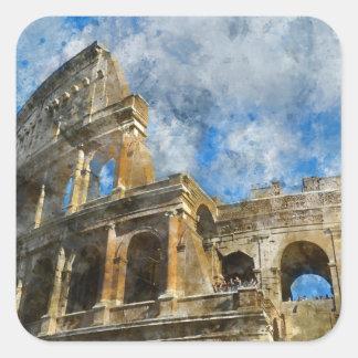 Colosseum in Rome, Italy_ Square Sticker
