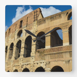 Colosseum in Rome, Italy Square Wall Clock