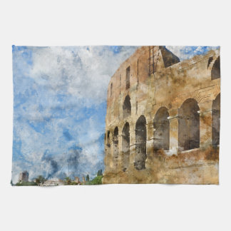 Colosseum in Rome, Italy Towel