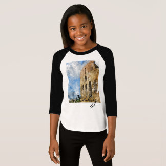Colosseum in Rome Italy Watercolor T-Shirt