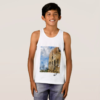 Colosseum in Rome Italy Watercolor Tank Top