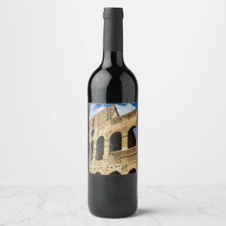 Colosseum in Rome, Italy Wine Label