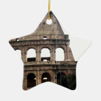 Colosseum Italian Travel Photo Ceramic Star Ornament