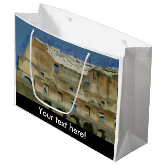 Colosseum painting, Rome Large Gift Bag