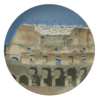Colosseum painting, Rome Party Plates