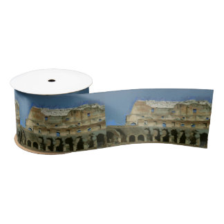 Colosseum painting, Rome Satin Ribbon