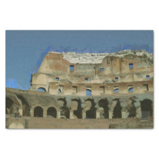 Colosseum painting, Rome Tissue Paper