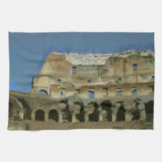 Colosseum painting, Rome Towels