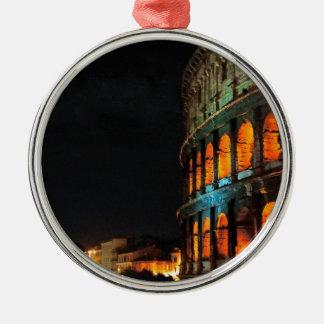 Colosseum Roman in Rome Silver-Colored Round Ornament